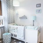 Gray & mint green: perfect color combination for every baby room. This wonder ... - Baby room ideas