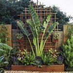 Greg and Nicki's lush tropical courtyard - wood design