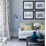 Grey living room with yellow highlights   Living rooms   Curtains   Ideal Home