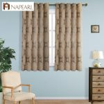 Grommet top semi-blackout short modern curtains for living room kitchen window d...