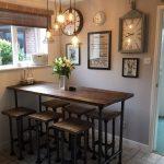 High gas pipe breakfast bar kitchen table reclaimed scaffold  | eBay