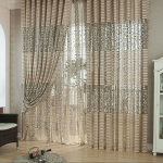 High quality modern luxury window curtains for living room sheer tulle for curtains one panel 200cm x100cm AA