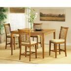 Hillsdale Furniture Bayberry 24.75 in. Oak Swivel Cushioned Bar Stool 4766-822 - The Home Depot