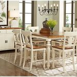 Hillside Cottage White 5 Pc Counter Height Dining Room