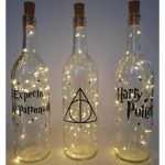 Home Decorating Ideas Bathroom Wine bottle lights Harry Potter decor fairy light bottle