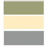 Homemade color palette - Purple/Burgundy (Rug, Curtains, Borders), Olive Green (...