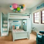 How cool and versatile is this? Twin loft bed with stairs and student desk on th...
