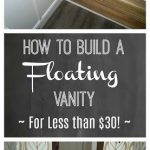 How to Build a Floating Wood Vanity For Less than $30 (an IKEA Hack!)