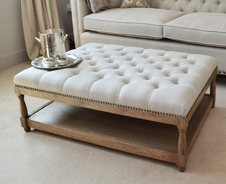 How to Convert a Coffee Table Into an Ottoman   How To Build It