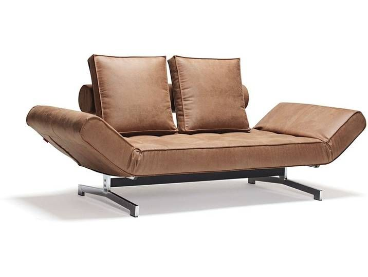 INNOVATION Ghia sofa bed 551 210x90x68cm brown / chrome