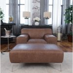 Industrial 2-Piece Top Grain Leather Set With Oversized Chair and Oversized Ottoman in Chestnut | Overstock.com Shopping - The Best Deals on Living Room Sets