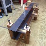 Industrial I Beam Coffee Table/ Modern Coffee Table/ Glass Table/ Industrial Furniture