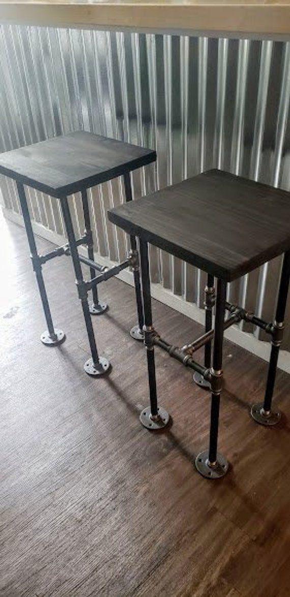 Industrial Pipe Bar Stools, Bar Stools, Counter-height stools, Pub Stools, Wood and Pipe Stools, Urb – pickndecor.com/furniture