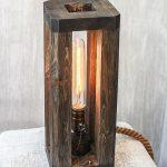 Industrial lamp Table light Wood light fixture for bedroom Nightstand lamp Edison light Wood lamp Minimalist lamp Rustic lamp EU_USA_AU PLUG