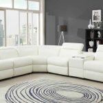Innovative White Leather Recliner Sofa Conti White Bonded Leather Power Recliner...
