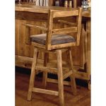International Furniture 24-Inch Lodge Swivel Counter Stool with Arms - Lacquer -...