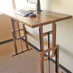 Items similar to Adjustable Wood Standing Desk on Etsy