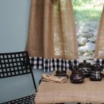 Items similar to Burlap and Gingham Cafe Curtains on Etsy