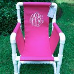 Items similar to Monogrammed PVC Toddler Chair Canvas Cover on Etsy