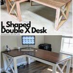 L Shaped Double X Desk - https://pickndecor.com/interior