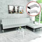 L-shaped Chaise Lounge Leather Sectional Sofa Living Room Couch Bed Set 2 Color ...