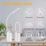 LED Desk Lamp Home Table Lamp 4 Levels Adjustable Night Light  USB Port LJ  - De...
