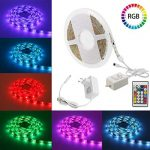LED Strip Lights, MYPLUS16.4ft Adjustable SMD 5050 RGB LED Light Strip with 150pcs LEDs and Color Changing Kit Contral by Remote for Bedroom,Living Room,Kitchen and Other Decoration in Home