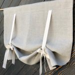 """Linen Curtains Country Kitchen Tie Up Valance Rustic Window Treatment French Country Farmhouse Living Room Farmhouse Curtain Blind 36""""L"""