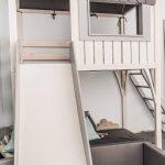 Loft bed, playhouse, children bed, bunk bed for kids, kids furniture, bunk bed, handmade, interior design, linen, wood, bed frame,tree house