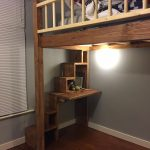 """Loft bed with stairs and desk #""""bunkbedwithstairsdiy"""""""