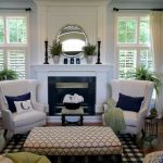 Love the blue wall color with white trim and curtains. And the wing back chairs … - pickndecor/home