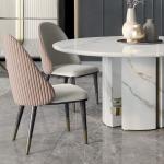 Luxury Italian Designer Contemporary Round Marble Dining Table Set - Juliettes Interiors