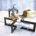 MODERN GLASS CENTER TABLE FOR LIVING ROOM