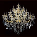 Maria Theresa 15-light Gold Finish Large and Crystal Candle 4-tier 40-inch Wide Extra Large Wall Sconce | Overstock.com Shopping - The Best Deals on Sconces