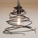 Maythorne Large - single wrought iron pendant light
