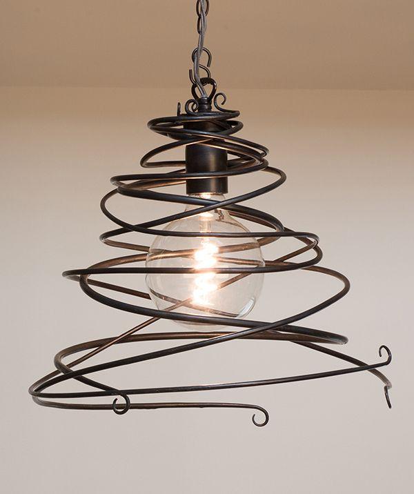 Maythorne Large – single wrought iron pendant light
