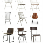 Metal, Wood And Leather Dining Chairs For The Modern Farmhouse