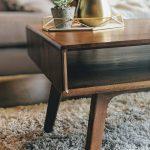 Mid Century Modern Coffee Table, Walnut Retro Coffee Table, Scandinavian Living Room Furniture