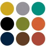 Mid Century Modern Color Chart The predominate color palette for Mid Century Mod...