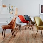 Mid-Century Upholstered Dining Chair - Metal Legs