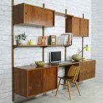 Mid century modern wall unit desk