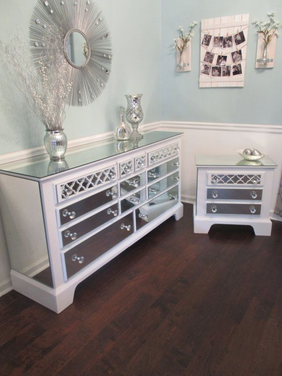 Mirrored Dresser And Nightstand Set – TopDekoration.com