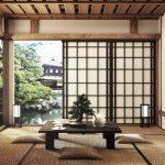 Mock up - modern living room, japanese style. 3d rendering