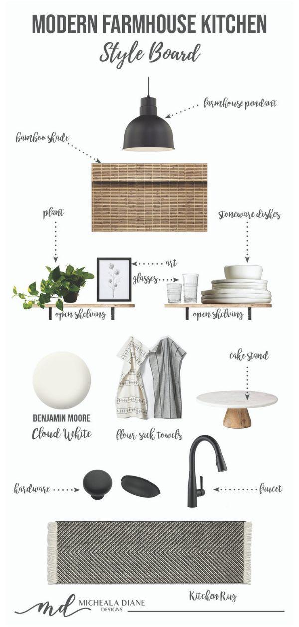 Modern Farmhouse Kitchen Makeover   Style Board