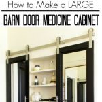 Modern Master Bath Remodel: Part 4: Barn Door Medicine Cabinet