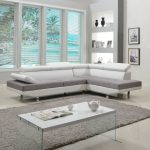 Modern White Contemporary Two Tone Microfiber and Bonded Leather Sectional Sofa | Overstock.com Shopping - The Best Deals on Sectional Sofas