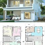 Modern house design plan 7.5x10m with 3Beds - Home Ideas