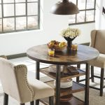 Moriann Counter Height Dining Room Table, Dark Brown