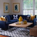 Mustard and blue living room ideas 56 - pickndecor.com/furniture