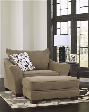 Mykla – Shitake Fabrics Chair And Ottoman Set 9670114